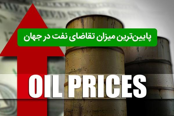 پایینترین میزان تقاضای نفت در جهان